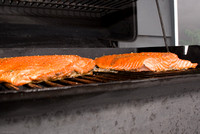 Still life: salmon on the grill
